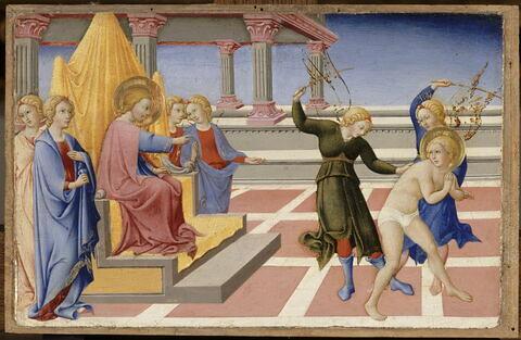 Saint Jérôme rêve qu'il est flagellé par deux anges sur l'ordre du Christ