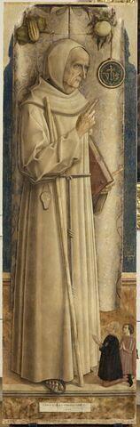 Saint Jacques de la Marche (1393-1476) avec deux donateurs agenouillés, dit parfois à tort Saint Bernardin de Sienne