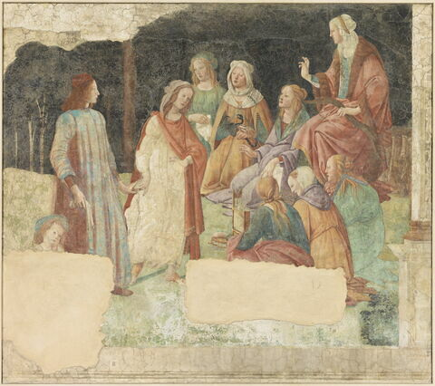 Un jeune homme présenté par Vénus (?) aux sept Arts Libéraux
