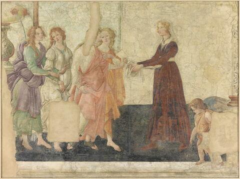 Vénus et les trois Grâces offrant des présents à une jeune fille