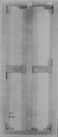 dos, verso, revers, arrière ; vue d'ensemble ; vue sans cadre © 1994 RMN-Grand Palais (musée du Louvre) / Ghislain Vanneste
