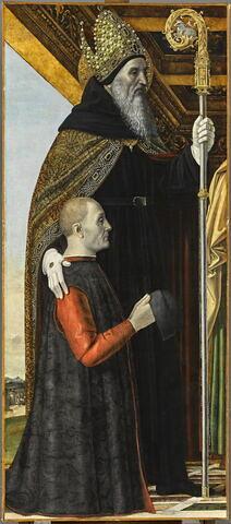 Saint Augustin et un donateur