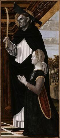 Saint Pierre martyr et une donatrice
