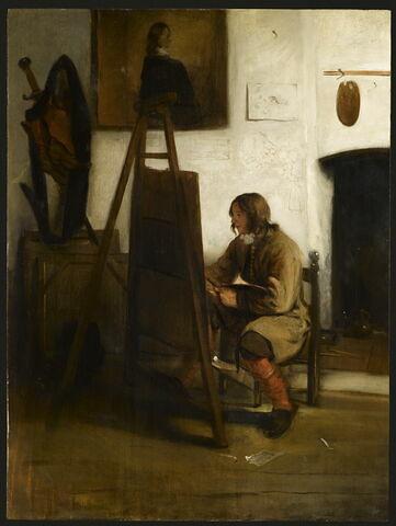 Peintre dans son atelier