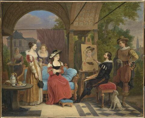 """Rubens peignant """"le Chapeau de paille"""" dans un pavillon de son jardin"""
