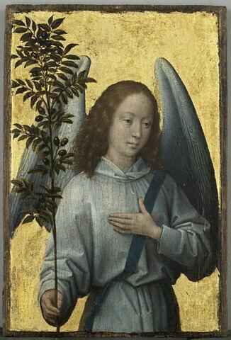 Ange tenant un rameau d' olivier