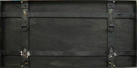 dos, verso, revers, arrière ; vue d'ensemble ; vue avec montage © 2005 Musée du Louvre / Peintures