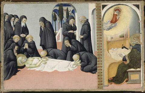 La Mort de saint Jérôme en présence de ses disciples et son apparition à l'évêque Saint Cyrille de Jérusalem