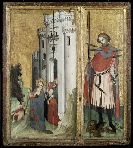 Retable de Thouzon : saint André chassant les démons de la ville de Nicée
