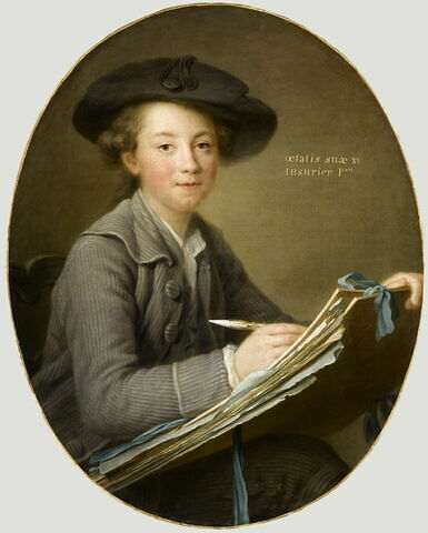 Le peintre Germain-Jean Drouais (1763-1788) à l'âge de quinze ans
