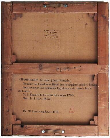 dos, verso, revers, arrière ; vue d'ensemble ; vue sans cadre © 2018 Musée du Louvre / Peintures