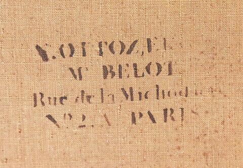 dos, verso, revers, arrière ; détail estampille © 2018 Musée du Louvre / Peintures