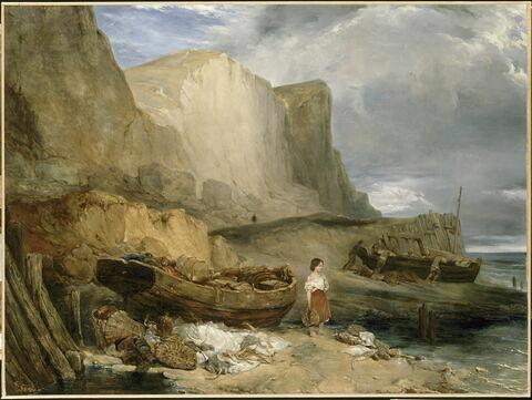 Vue prise sur la côte de Normandie