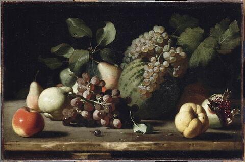 Nature morte aux raisins et à la grenade