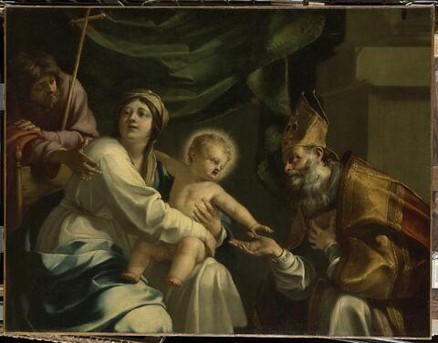 La Vierge à l'Enfant avec un évêque et saint Jacques