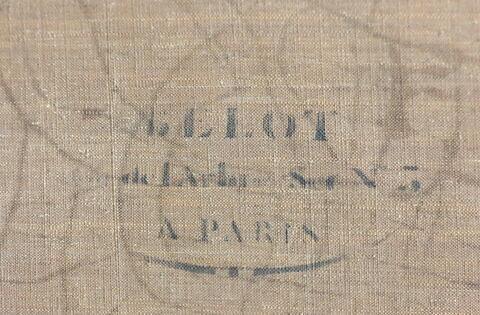 dos, verso, revers, arrière ; détail marque au pochoir © 2016 Musée du Louvre / Peintures
