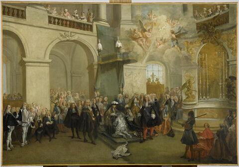La Remise de l'Ordre du Saint-Esprit, dans la chapelle de Versailles (3 juin 1724)