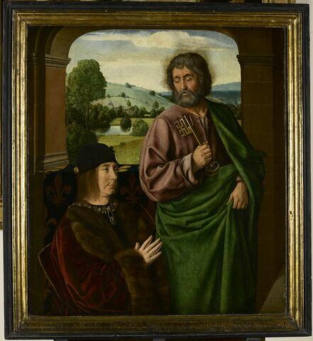 Pierre II, sire de Beaujeu, duc de Bourbon (1439-1503), présenté par saint Pierre