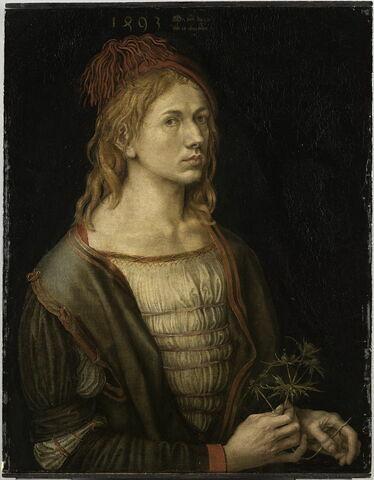 Portrait de l'artiste tenant un chardon