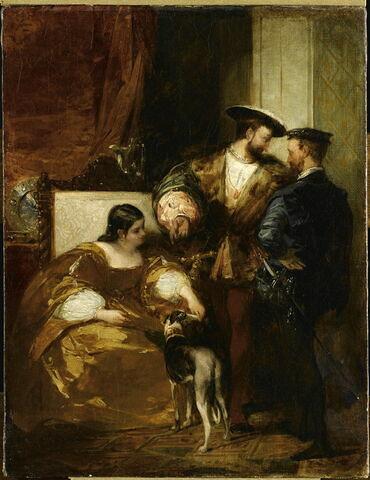 François 1er et la duchesse d'Etampes