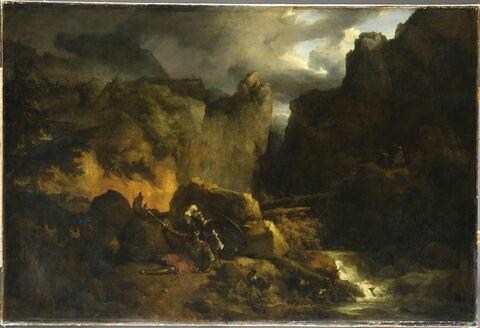 Paysage. Mort de Roland, en 778