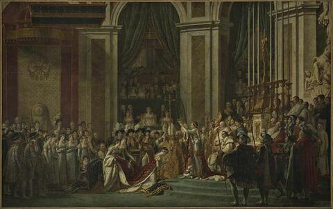 Sacre de l'empereur Napoléon 1er et couronnement de l'impératrice Joséphine dans la cathédrale Notre-Dame de Paris, le 2 décembre 1804.
