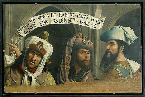 face, recto, avers, avant ; vue d'ensemble ; vue avec montage © 2004 Musée du Louvre / Peintures