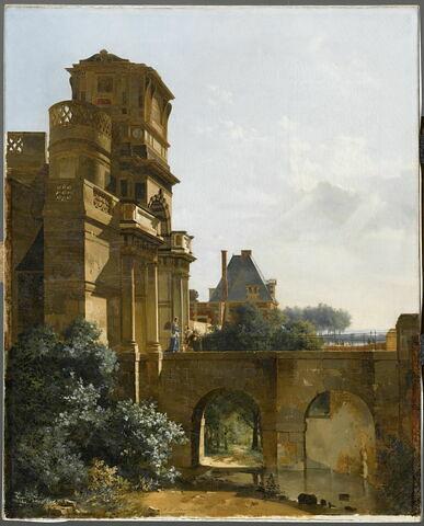 Vue de l'entrée du Château d'Anet (Eure-et-Loir)