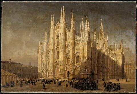 Vue du dôme de Milan