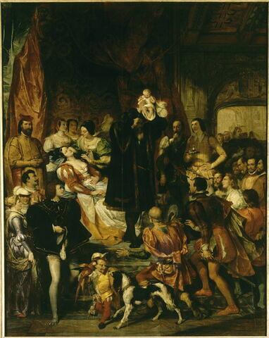 Naissance d'Henri IV(château de pau, 13 décembre 1553).