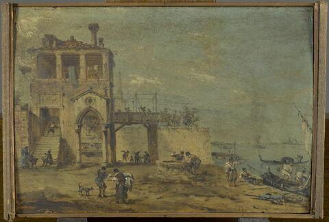 Maison vénitienne au bord de la lagune