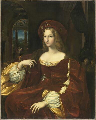 Portrait de Dona Isabel de Requesens, vice-reine de Naples, dit longtemps Portrait de Jeanne d'Aragon (1550-1577)