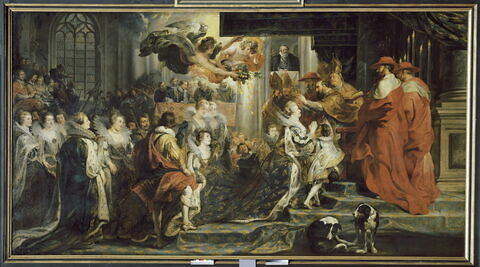 Le Couronnement de la reine à l'abbaye de Saint-Denis, le 13 mai 1610