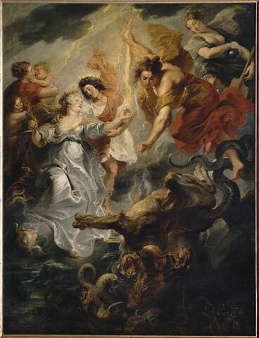 La Parfaite Réconciliation de la reine et de son fils, après la mort du connétable de Luynes, le 15 décembre 1621
