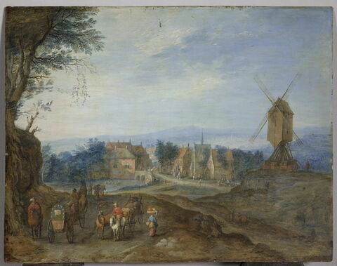 Paysage au moulin à vent