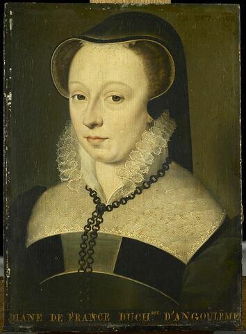 Diane de France, duchesse d'Angoulême (1538-1619), fille naturelle et légitimée de Henri II, roi de France.