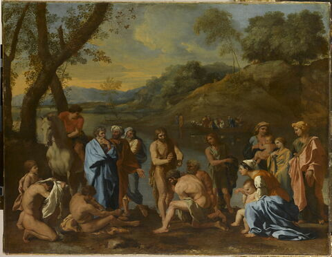 Saint Jean baptisant le peuple