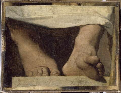 Étude pour l' Apothéose d'Homère: les pieds d'Homère.