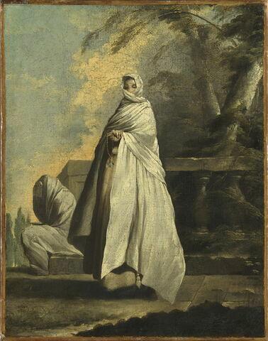 Femmes drapées de blanc.