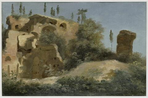 À la villa Farnèse: les ruines