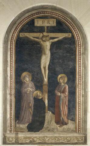 Le Calvaire avec saint Dominique en prière
