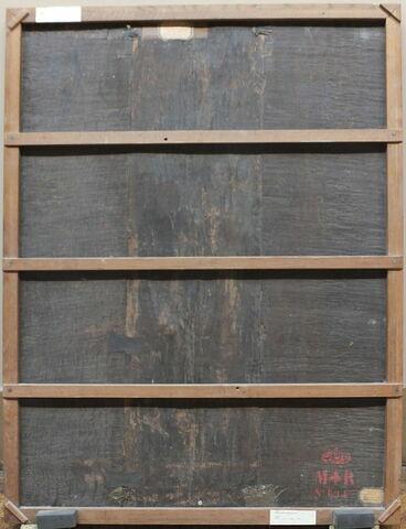 dos, verso, revers, arrière ; vue d'ensemble ; vue sans cadre © 2014 Musée du Louvre / Peintures