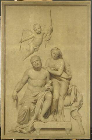 Hercule filant la laine aux pieds d'Omphale