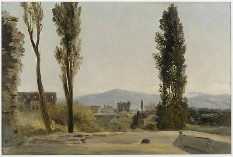 À la villa Farnèse: les trois peupliers et le Mont Latium