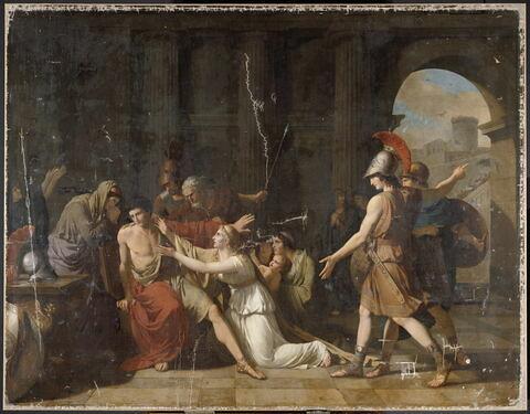 Méléagre supplié par sa famille de prendre les armes pour défendre la ville de Calydon