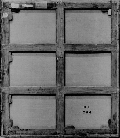 dos, verso, revers, arrière ; vue d'ensemble ; vue sans cadre © 1991 RMN-Grand Palais (musée du Louvre) / Thierry Borel