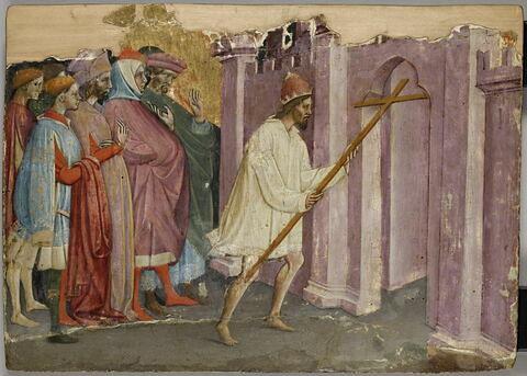 L'Empereur Héraclius en chemise et pieds nus rapporte la croix à Jérusalem