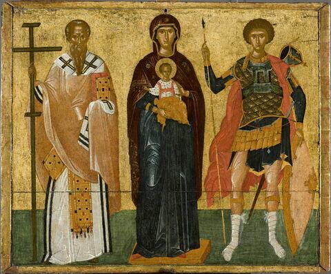 La Vierge et l'Enfant entre saint Cyriaque et saint Georges