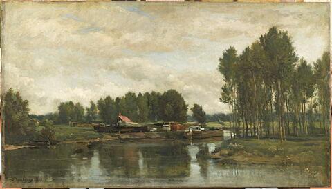 Bateaux sur l'Oise.