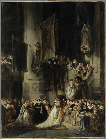 Une cérémonie dans l'église de Delft (XVI siècle)